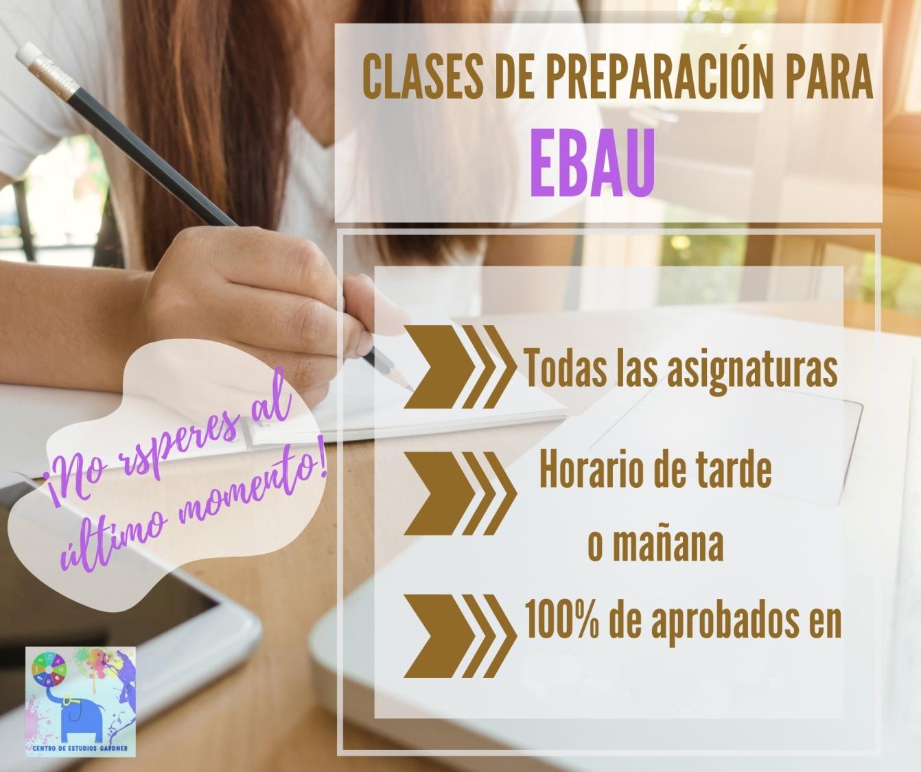 Preparación de exámenes EBAU