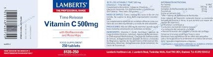 Lambers Vitamina C-Time 500 Mg