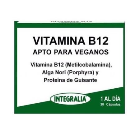 Vitamina B12 Apta para veganos, 30 comp. Inte